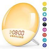 [Neu] Wake Up Light Lichtwecker mit USB Handy Ausgangsport Schlafhilfe LED Nachtlicht Kinder mit...
