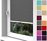 Home-Vision® Premium Plissee zum Anschrauben in der Glasleiste Innenrahmen (Graphit, B75cm x...