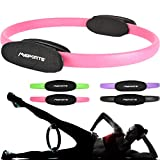 MSPORTS Pilates Ring Premium I Widerstandsring - Doppelgriff Pilates Yoga Ring 38 cm Übungskreis...