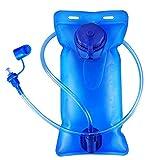 2 Liter Trinkblase Trinkblase Wasserblase Sport Wasser Blasen für den Außenbereich (2L Blau...