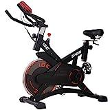 ISE Profi Indoor Cycle Ergometer Heimtrainer,10kg Schwungrad,mit Pulsmesser, LCD...