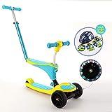 Klappbar 3-in-1 Kinder Roller Scooter mit AbnehmbaremSitz Höheverstellbare Lenker 72-76cm mit...