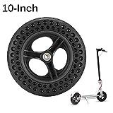 BIOBEY Elektroroller Reifen, 2 Stück 10 Zoll hohler Nicht pneumatischer Reifen für Xiaomi Roller