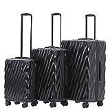 MÜNICASE TSA Schloß Handgepäck 4 Rollen Hartschalen-Koffer Trolley Rollkoffer Reisekoffer...