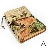 Büro-Tagebuch Vintage Schreibwaren PU Leder Notizbuch Kreativ Kraftpapier Planer Skizzenbuch Agenda Tagebuch Notizbücher Schreiben (Farbe: A 6, Größe: A6)