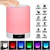 SZLN Neben Lampe mit Bluetooth Lautsprecher RGB LED Nachtlicht USB Wiederaufladbar Dimmbar Touch...