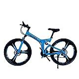 KP&CC 6 Schneidräder Mountainbike Erwachsene Stoßdämpfende Scheibenbremse Y-Faltrad Für Männer...