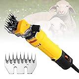 1000W Profi Ziegenschere Clipper Trimmer,Elektrische Schafschermaschine,Schermaschine für Schafe,Schaf Elektrische Haarschneidemaschine,Fellpflege Schafschere Wollschere(Size: 9 Teeth)