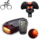 SYCHONG Fahrradrücklicht Mit Alarm Fernbedienung, Fahrradklingel Und COB-Rücklicht, Wasserdichten...