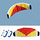 Drachen 2 Line Nylon Parafoil Lenkdrachen Parachute Sail for Surfing Beach (Color : Multi-Colored,...