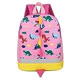 7Trees Cartoon-Rucksack für Kinder, Dinosaurier-Motiv, mit Sicherheitsleine