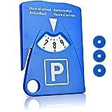 Motoscale Parkscheibe für Auto - 4 in 1 - mit Parkscheinhalter, Gurtmesser und Einkaufswagenchips