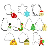 Fafalloagrron 10 Stück Weihnachtsmotive Kuchen-Ausstechformen Plätzchen Gebäck Form Zuhause Küche Gadget Ausstechformen Werkzeuge