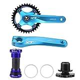 VGEBY1 Fahrrad Kurbelgarnitur, Single Speed Crank Set, Aluminiumlegierung Fahrrad...