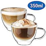 ecooe Doppelwandige Cappuccino Tassen Glaser Latte Macchiato Glaser Set Trinkgläser Kaffeeglas...
