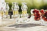 Öllampe aus Glas mit goldener Drehfassung 21 cm   Petroleumlampe mit Baumwolldocht   Perfekt für...