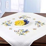 Stickpackung Schmetterlinge, Kreuzstich Tischdecken Set vorgezeichnet zum Sticken, Stickset zum...