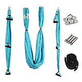 PELLOR Aerial Yoga Hängematte Set, Elastische Tuch Sling Swing Vertikaltuch Yogatuch Hammock...