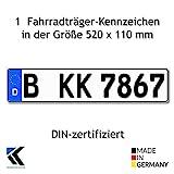 Euro-Kennzeichen | Kfz Kennzeichen DIN-zertfiziert für Deutschalnd (520x110 mm)