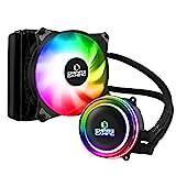Empire Gaming – Guardian G-V10 Wasserkühlung AIO PC Gamer – CPU Flüssigkühlung ARGB 3 Pins 5 V Heizkörper 120 mm – Lüfter 120 mm PWM leise – Intel und AMD