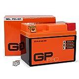 GP-PRO GTX4L-BS 12V 5Ah GEL-Batterie (Ähnlich YTX4L-BS / YTX5L-BS) (Wartungsfrei & Versiegelt)...