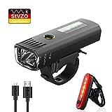 Pezimu Fahrradlicht LED Set - USB Wiederaufladbare Frontlicht Rücklicht Wasserdicht Fahrradlichter...