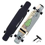 YF-Barstool Skateboard Pro Komplette 118 x 24 cm Skateboard Maple Wood Double Kick Tricks für...