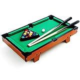 JFJL Mini Tisch Pool Set- Billard Spiel Enthält Spielbälle, Sticks, Kreide, Pinsel Und...
