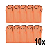 RHINOS sports Trainingsleibchen 10er-Set, Größe:M, Farbe:orange