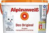 ALPINA Innenfarbe Das Original, Alpinaweiß 10L 10 l, weiß