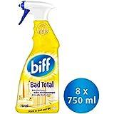 Biff Bad Total Zitrus Badreiniger (für alle Oberflächen) 8er Pack (8 x 750 ml Sprühflasche)