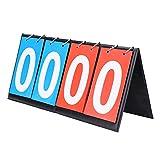 OhhGo Anzeigetafel Falte Sporttischplatte Anzeigetafel Kerbe Keeper 2/4 Digit für Indoor Outdoor...