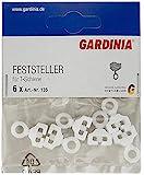 GARDINIA Feststeller für T-Schienen, 6 Stück, Kunststoff, Weiß