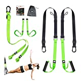 RHINOSPORT Schlingentrainer Sling Trainer Set mit Türanker Einstellbar Fitness Zuhause Suspension -...