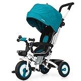 Fascol 4 in 1 Dreirad Klappbar Kinderwagen Tricycle für Kinder ab 6 Monate bis 5 Jahren,...