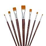 Transon Flachpinsel-Set, 7-teilig, für Multimedia-Malerei