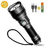 Bovon LED Taschenlampe, USB Wiederaufladbare Outdoor Taschenlampe Extrem Hell für Kinder Camping...