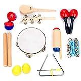 Wandisy Kinder Musikinstrumente, 10 Stücke Kleinkind Pädagogische Musik Spielzeug Orff Percussion...