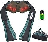 Shiatsu Massagegerät Schulter Nackenmassagegerät mit Wärme, 3D-Massage von Tiefem Gewebe, Muskelschmerzlinderung für Nacken, Rücken, Schulter, Beine, Füße