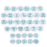 Bäcker & Lecker Ausstecher Buchstaben und Zahlen Fondant Ausstechformen Alphabet Tortendeko Backen Zubehör Set Auswerfer Stempel Keks Marzipan (Mehrweg)
