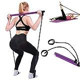 Tsosginaog Pilates Bar Kit Mit Widerstandsband - Tragbarer Yoga-Übungsstab...