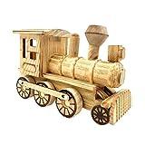 WINBST Dampflokomotive mechanischer Baukasten 3D Holzpuzzle Modellbau Set Denkspiel Rätsel...