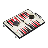 Relaxdays Backgammon Koffer, hochwertiges Set, inklusive komplettem Zubehör, Tavla Brettspiel, B x...