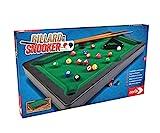 Noris 606167704 Pool Billard & Snooker inkl. 2 Queues, 16 Billard-und 17 Snooker Kugeln und...