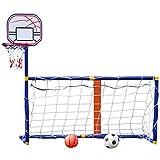 YQZ Kinder-Basketball-Ständer, 2 in 1 Innen- und Außen-Basketballplatte...