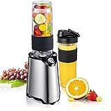 Smoothie Maker, Aicok Mini Standmixer mit 600 ml BPA-freie Tragbar Tritan-Trinkflasche für Shake,...