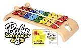 Voggenreiter Glockenspiel-Set für Kinder ab 3 - 6 Jahren inkl. Baby Composer Lernsoftware App für...
