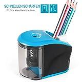 Elektrischer Anspitzer, INVOKER Stahlfräser Bleistiftspitzer mit Robuster Spiralklinge für Nr. 2...