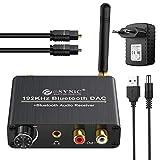 192 kHz DAC Konverter mit Bluetooth 5.0 Empfänger mit Einstellbarer Lautstärke und Optischem...