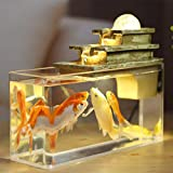 Water Fountain Feng Shui Crafts Meditation Fish Tank Aromatherapy Indoor Air Humidity Desktop...